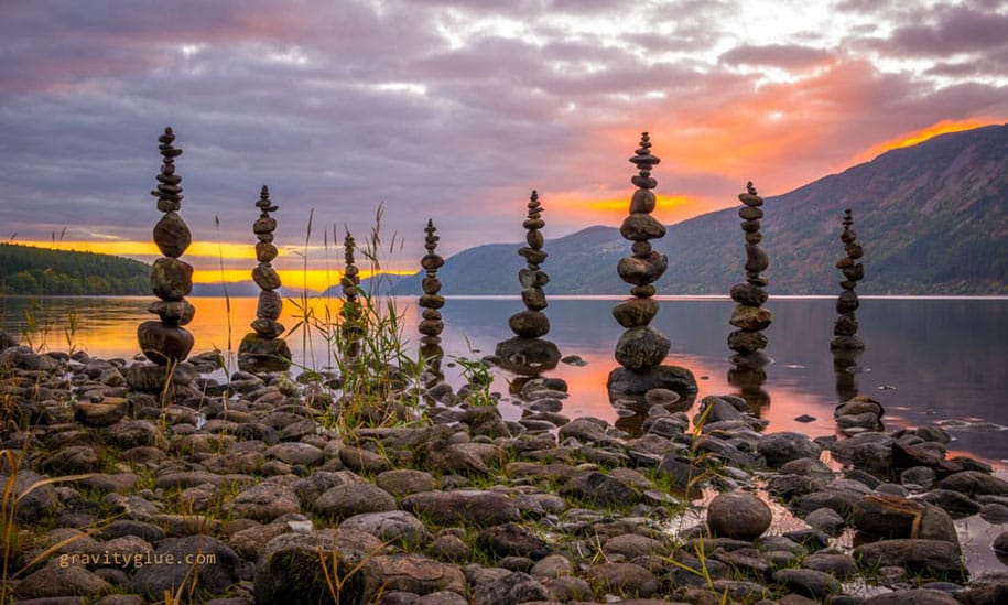 Artist Creates 23 Impossible Towers Of Balanced Rocks