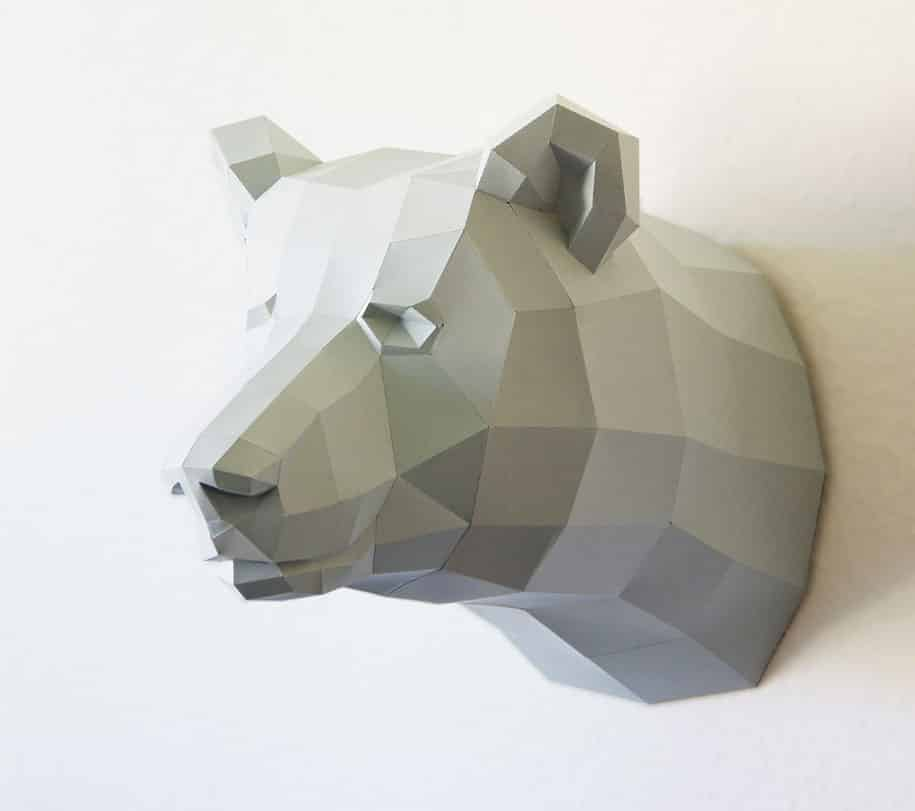 17 Beautiful Polygonal Animal Paper Sculptures By Wolfram Kampffmeyer