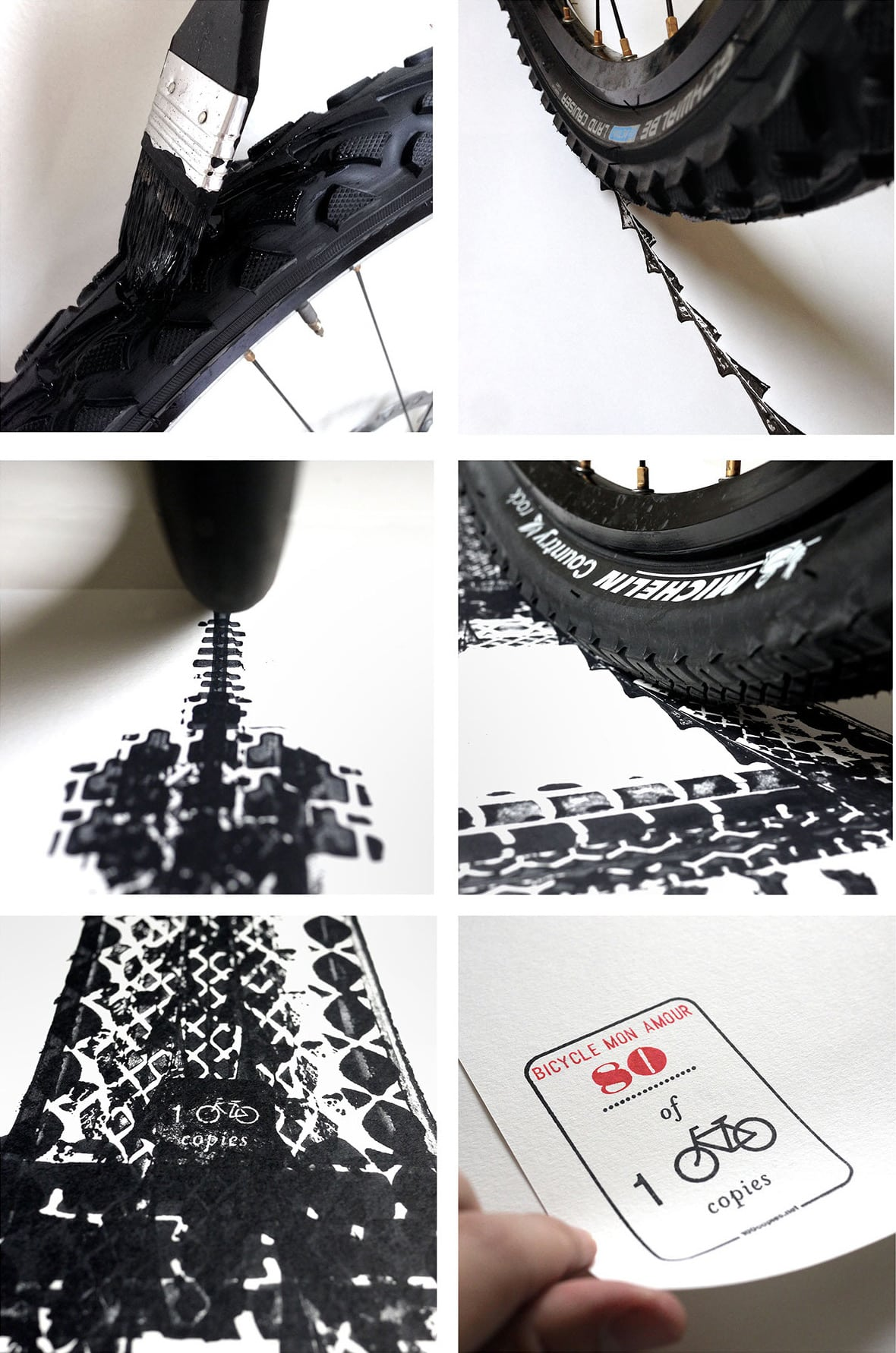 7 Architectural Landmarks Made with Bike Tire Tracks