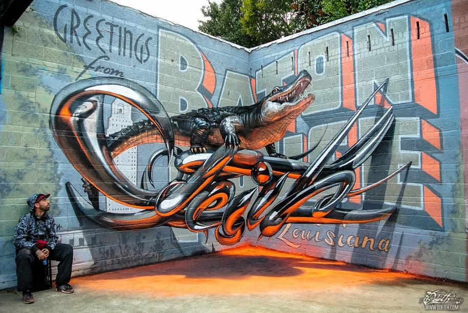 12 Beautiful 3D Graffiti Street Art That Floats In The Air