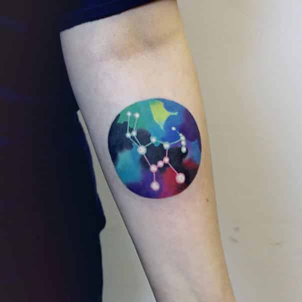 45 Space Tattoo Designs For Astronomy And Science Fiction Lovers