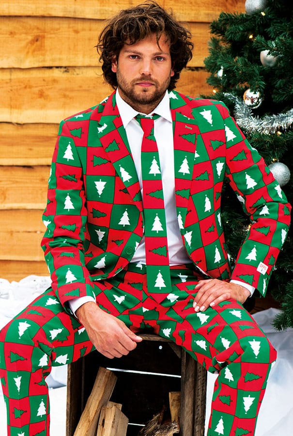 3 Ugly Christmas Sweaters Turned in Fashionable Suits