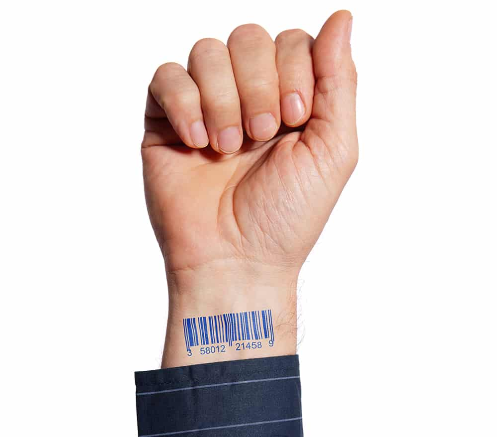 barcode on human hand 43 Inspiring Wrist Tattoos and Graphics