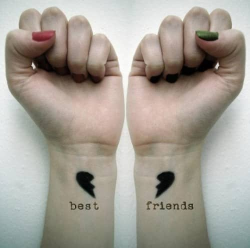 best friends tattoo 43 Inspiring Wrist Tattoos and Graphics