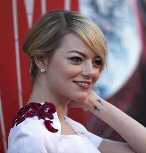 emma stone wrist tattoo 43 Inspiring Wrist Tattoos and Graphics