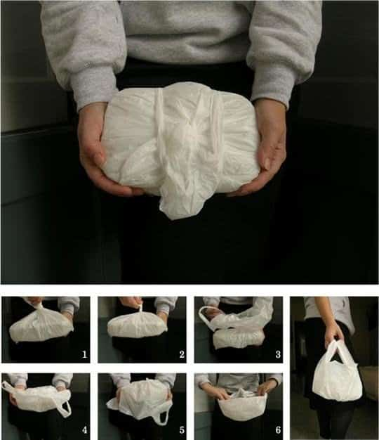 A Plastic Bag As A Lunch Bag