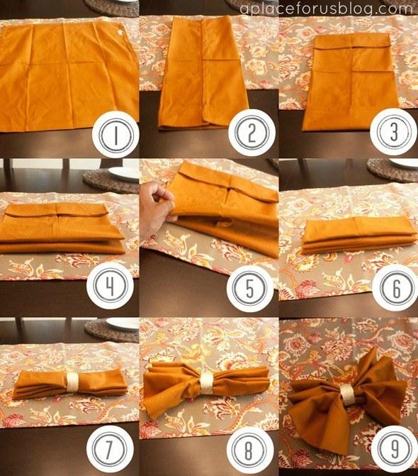 A Bow Tie Napkin