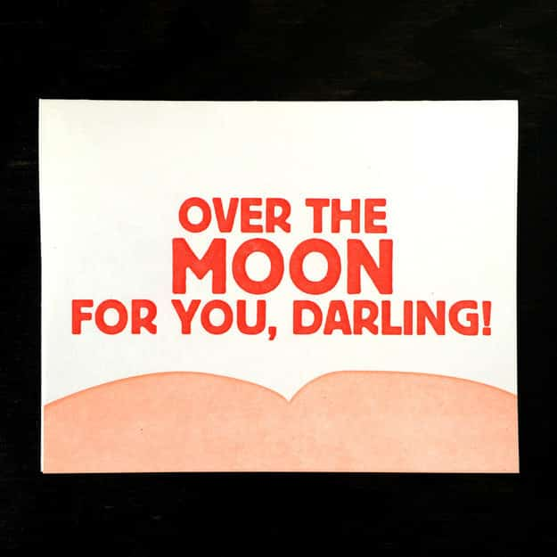 For a Valentine who makes you all moony.