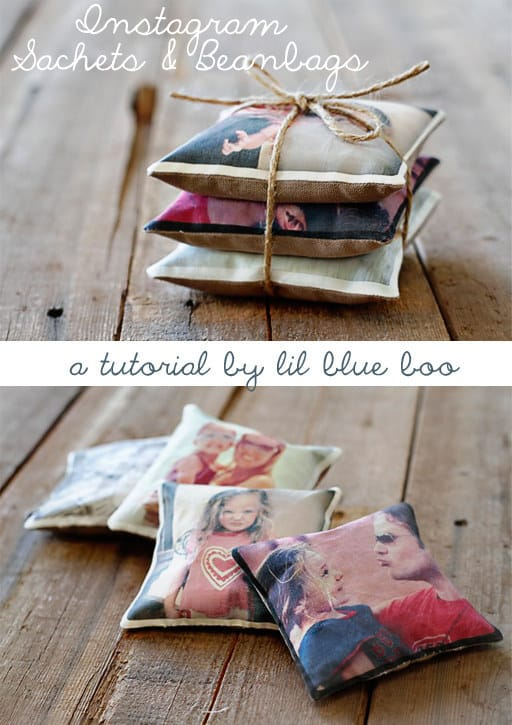 Turn your Instagrams into lavender or cedar sachets.