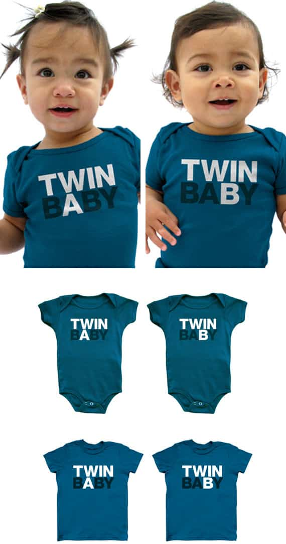 Finally tell your twins apart with this romper set.
