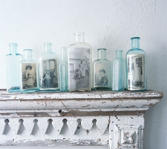 Use old-timey bottles for a ~found object~ kind of feel.