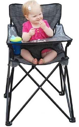 Get a portable high chair.
