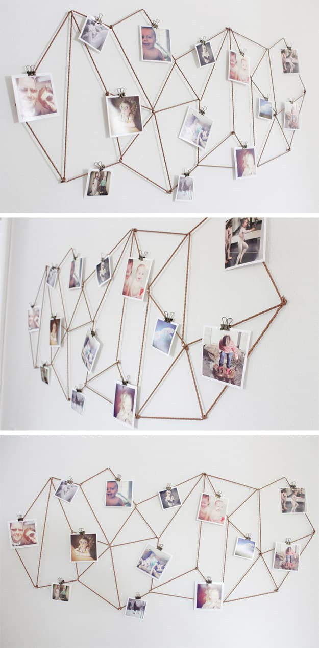 Use twine to create this modern geometric display.