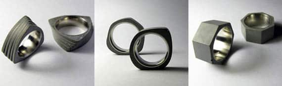 Concrete Ring Collection by 22Designstudio