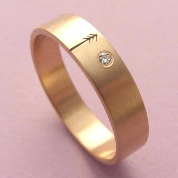 Rose Gold and Diamond Pine Tree Ring, $570