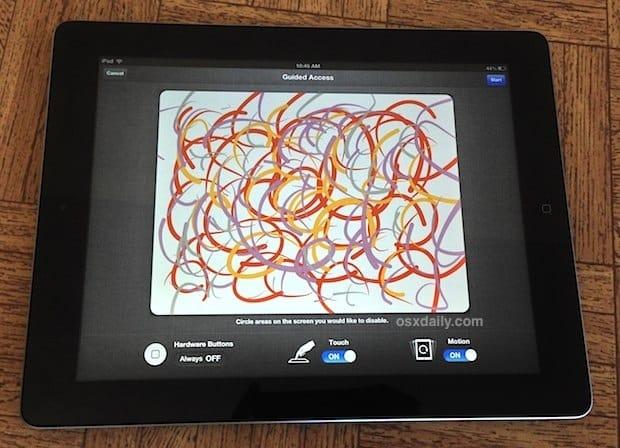 """Put the iPad in """"Kid Mode."""""""