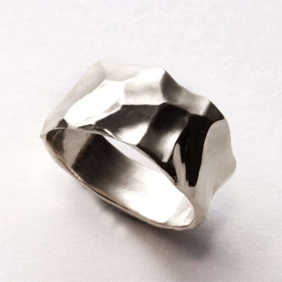 """Butter"" White Gold Ring, $570"