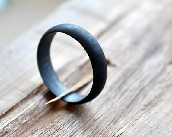 Oxidized Black-Grey Band, $79