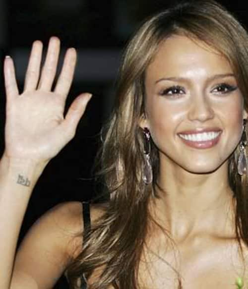 jessica alba tattoo 43 Inspiring Wrist Tattoos and Graphics