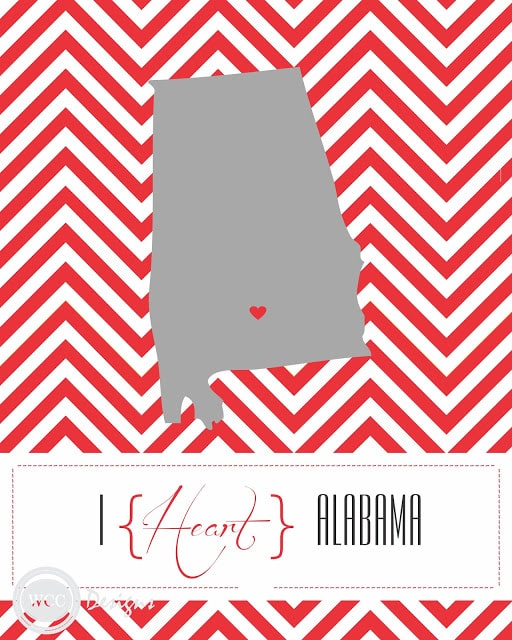 ALABAMA STATE 30 fabulous free printables {for the home}