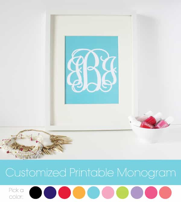customized printable monogram 30 fabulous free printables {for the home}