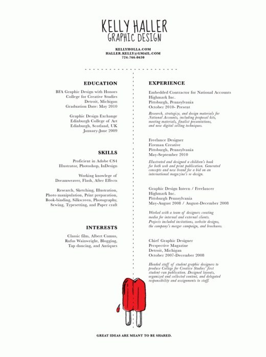 design resumes examples