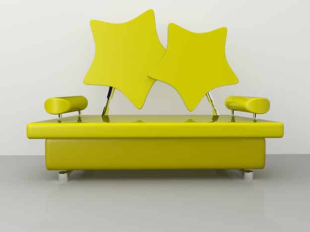 This glossy star couch.