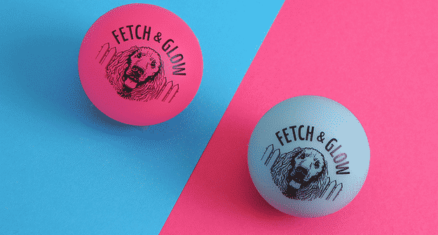The Fetch & Glow ball lights up so you can play at night without losing it in the dark.