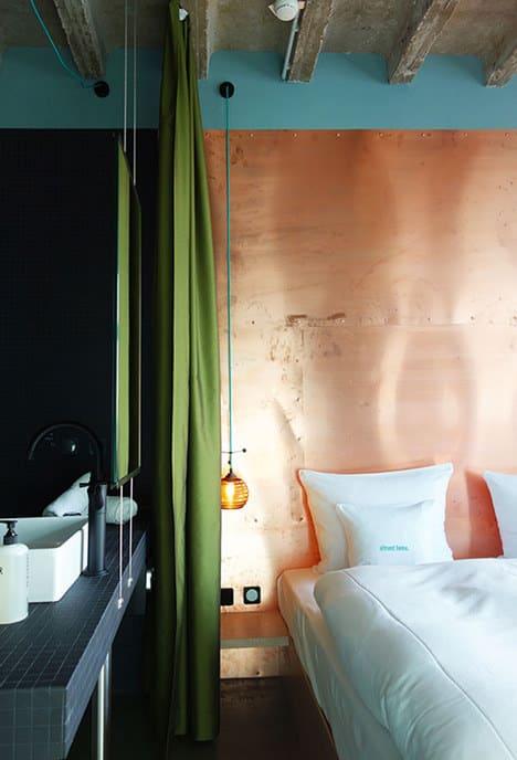 Make a copper headboard.