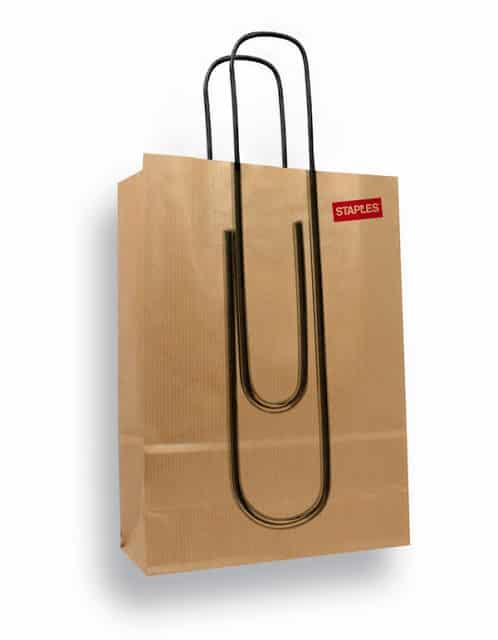 An updated Staples bag.
