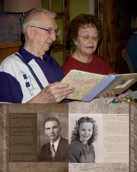 A family history scrapbook.