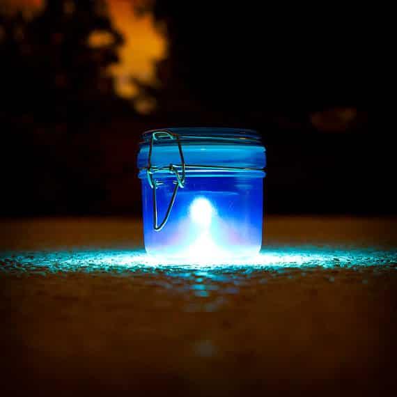 Solar Lights in a Jar