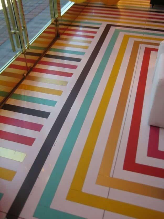 Stripe your floor.