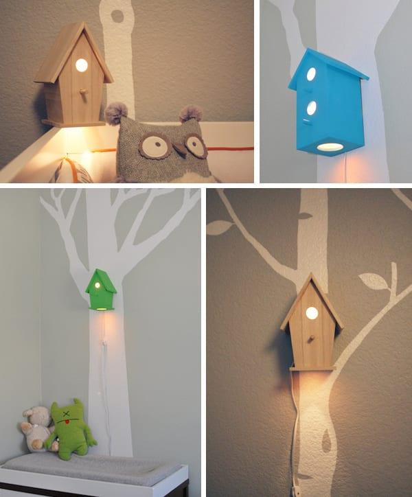 Baby Birdhouse Lamp