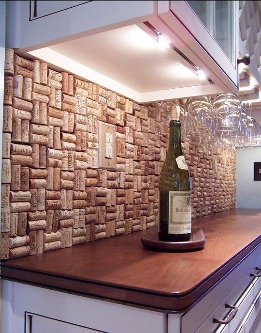 Make a wine cork wall.
