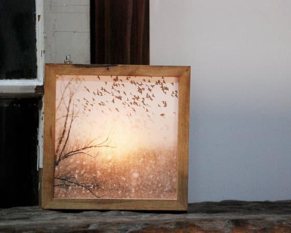 Birds of Snow Light Box