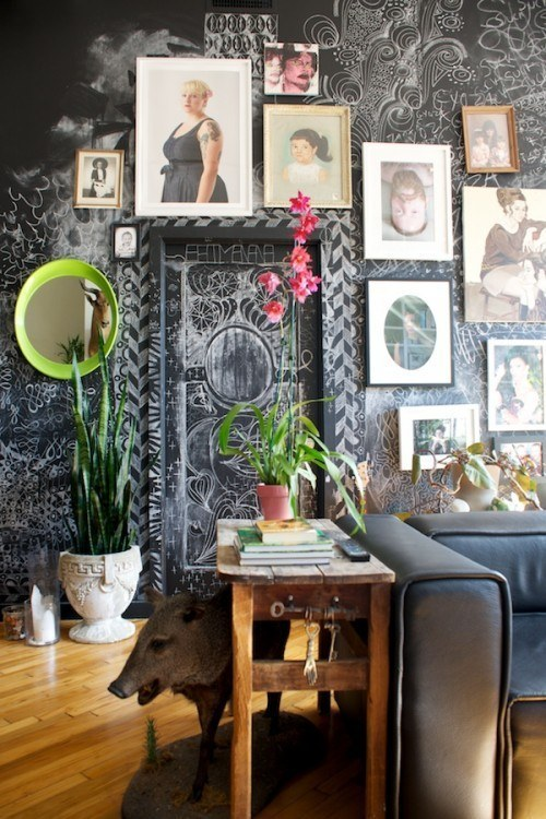 Make your whole room into a chalkboard.
