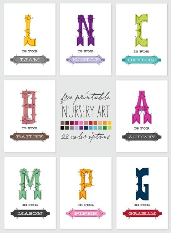 freeprintablenurseryart 30 fabulous free printables {for the home}