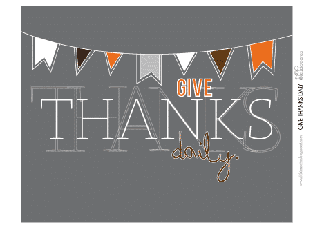 give thanks daily 2 30 fabulous free printables {for the home}