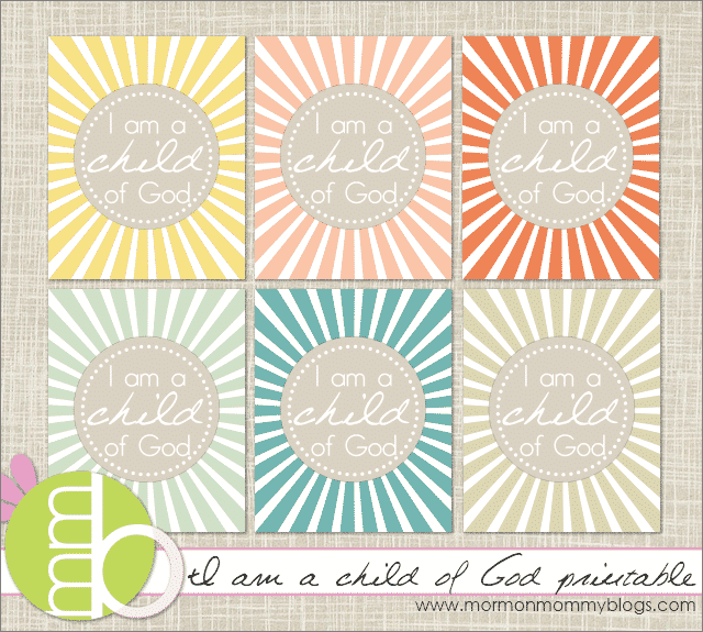 i am a child of God copy 30 fabulous free printables {for the home}