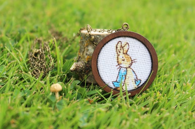 Peter Rabbit necklace ($22).