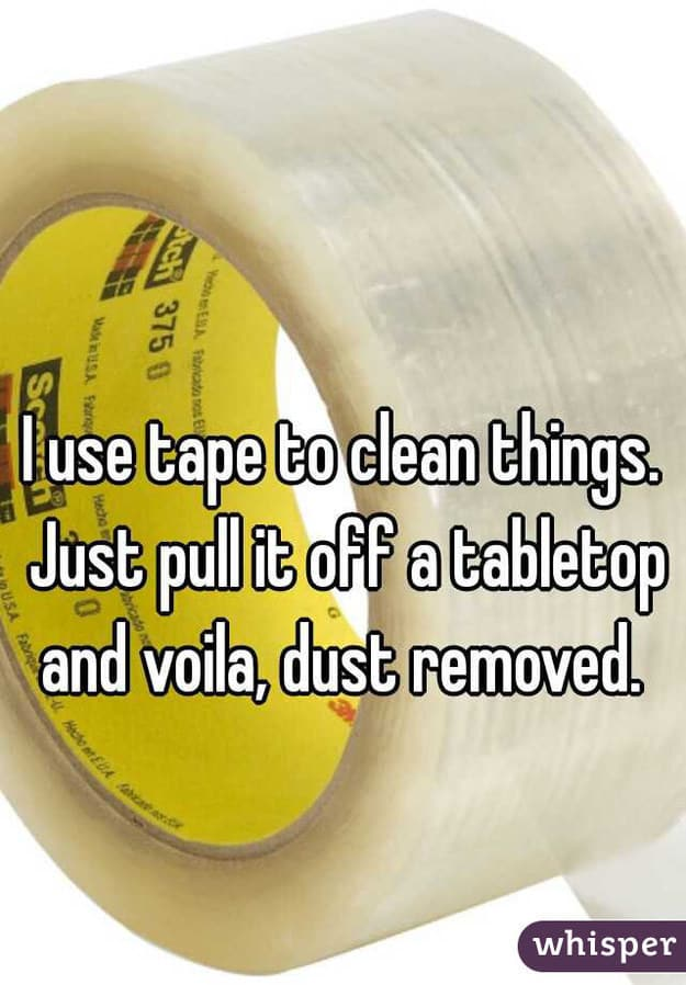 Use tape to pick up crumbs.
