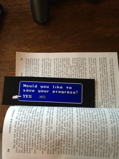 This playful Final Fantasy 7-inspired bookmark.