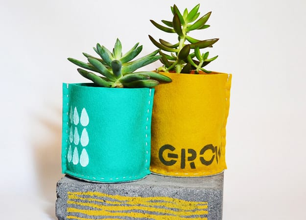 Hand Stitched Planters