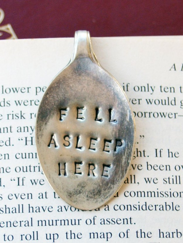 This handcrafted bookmark.
