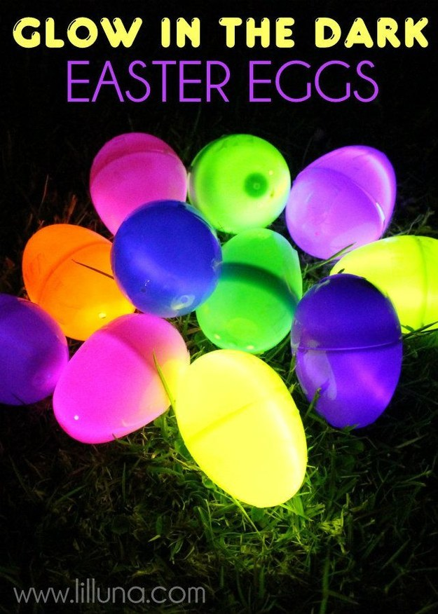 Light up the night with glow in the dark easter eggs.