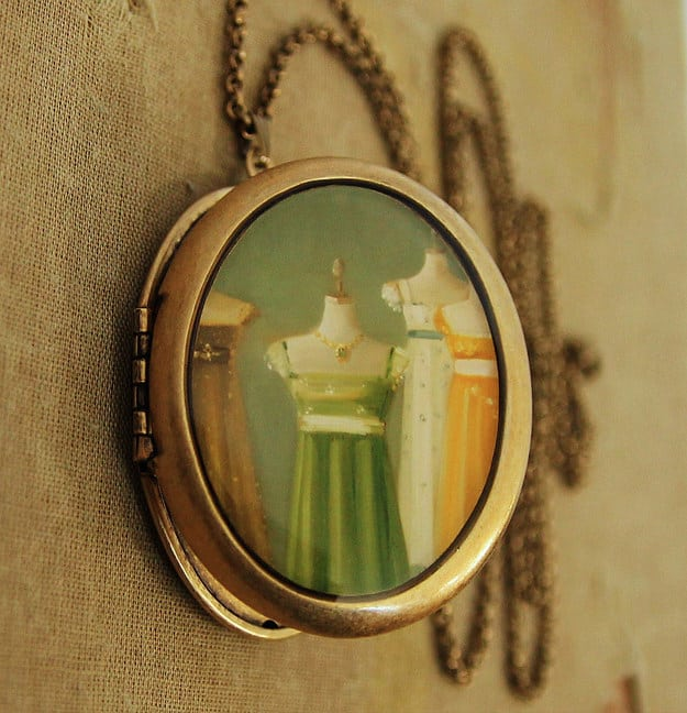 Sense and Sensibility (and every other Jane Austen book) necklace ($65).