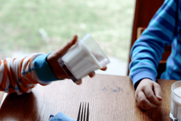 You can also use gelatin to make this unusual glass of milk.