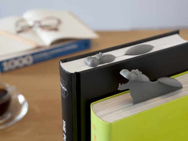 This fun floating hippo bookmark.