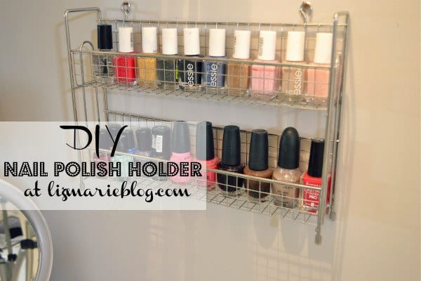 Keep your favorite nail polish colors in a spice rack.